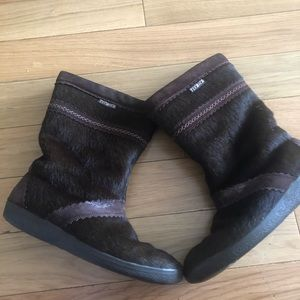 Technica Brown Fur Boots